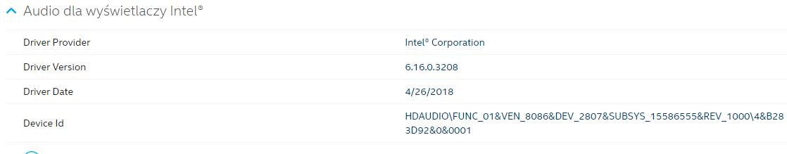 Windows 10 1903 no sound over hdmi (intel audio graphics