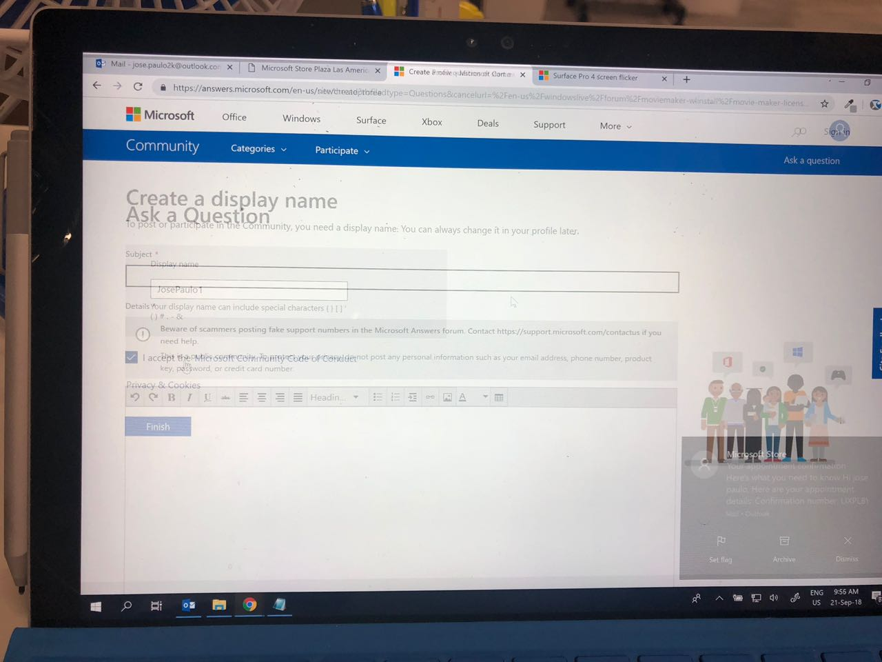 quality design d8881 3a00e Surface Pro 4 screen flickers and scrambled - Microsoft Community