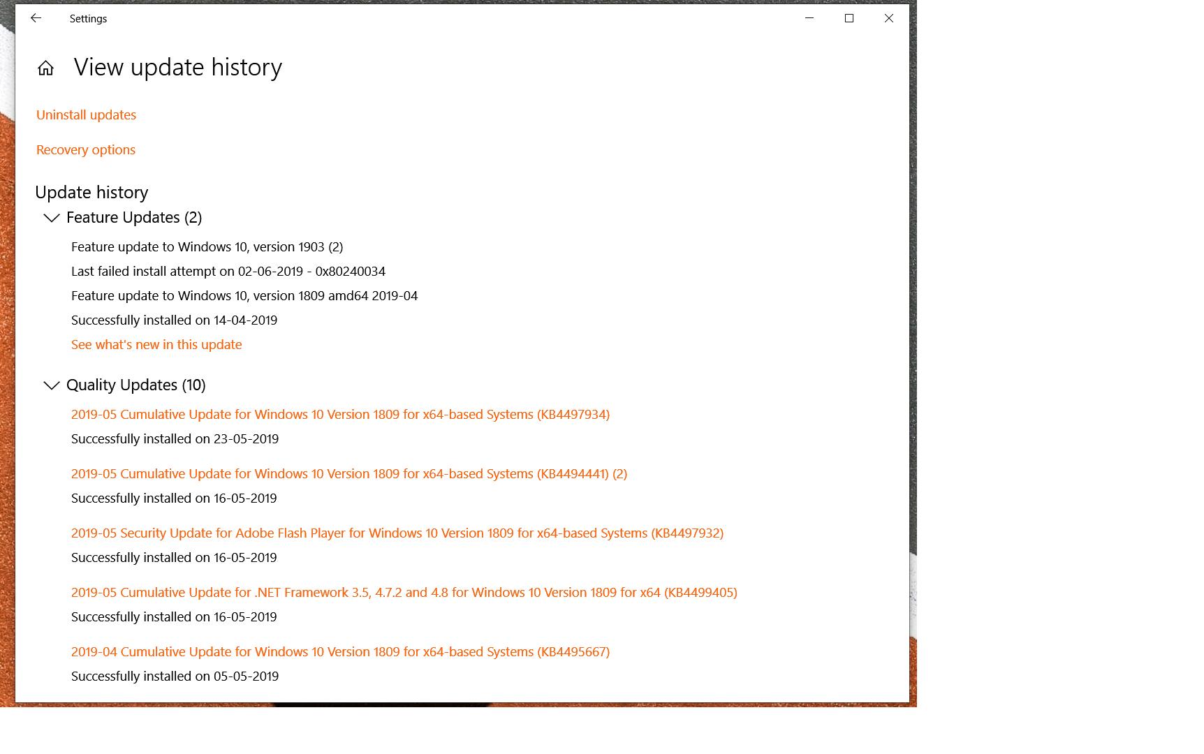 Try These Windows 10 1903 Error Code {Mahindra Racing}