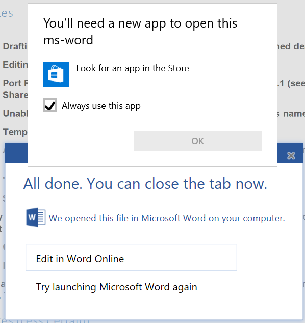 word online edit in word not working when using edge on windows 10 rh answers microsoft com microsoft sharepoint user manual microsoft sharepoint designer manual
