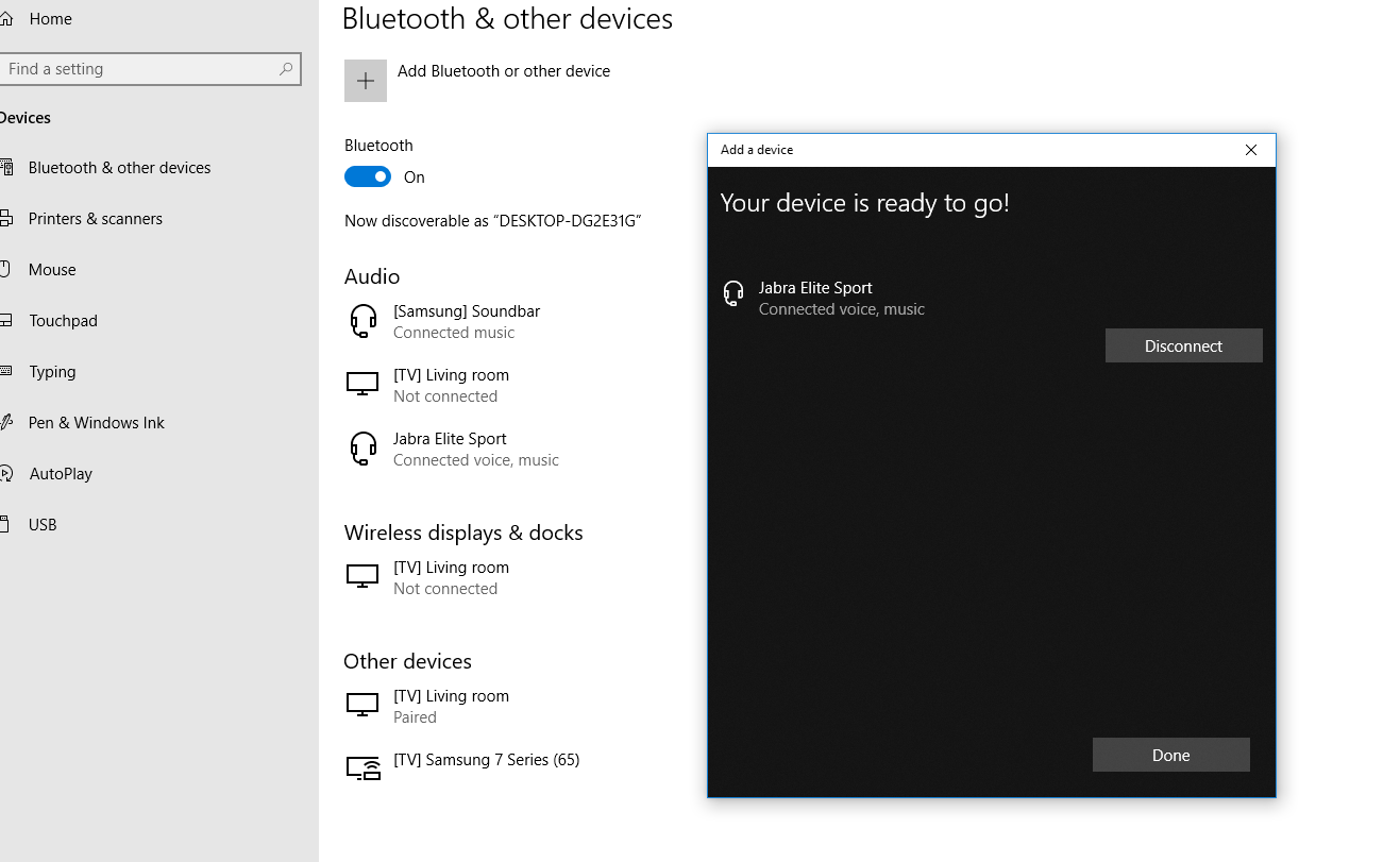 Pairing Jabra Elite Sport With Windows 10 Hp Envy Microsoft Community