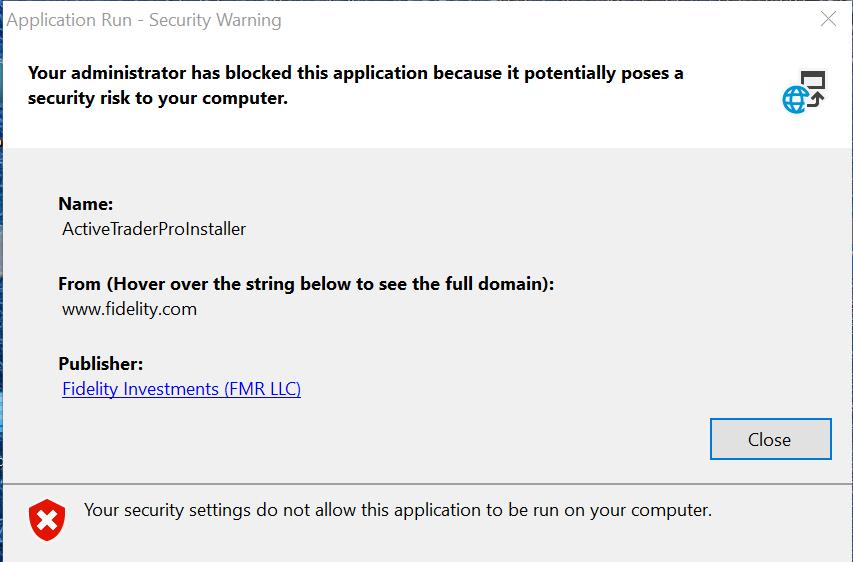 Windows 10 will not allow a legitimate setup exe to run