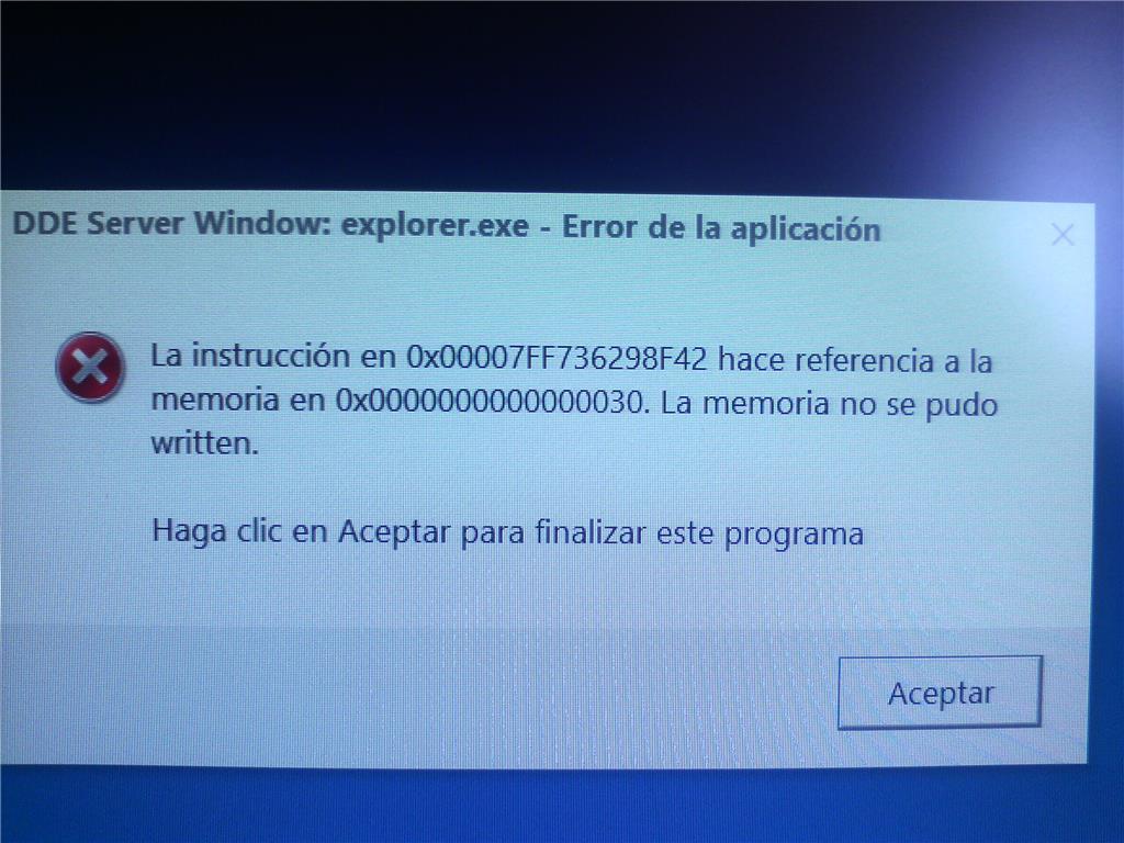 how to fix explorer exe error windows 10