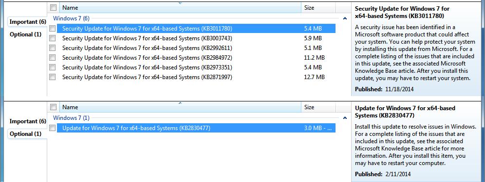 windows 7 ultimate won t update