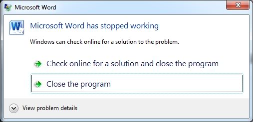 Ms Office Has Stopped Working Issues Microsoft Community