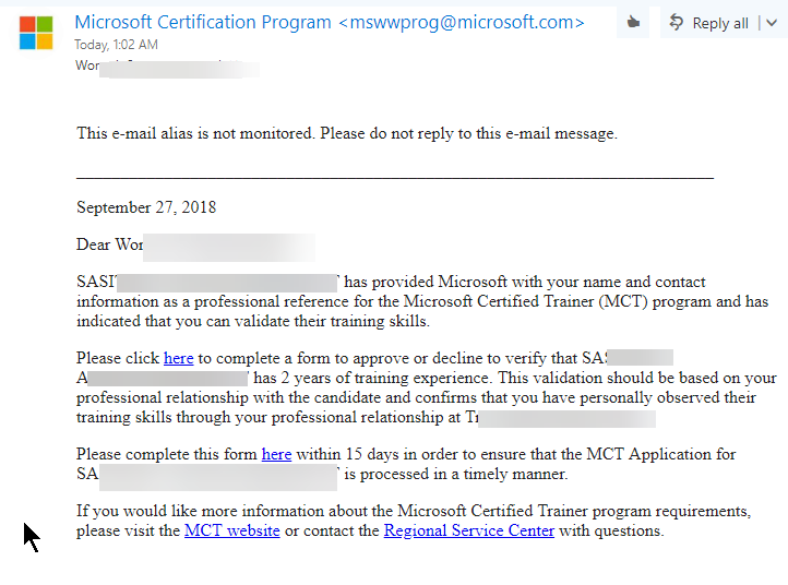 My Verification Person Cant Process Verification Link For Mct Is