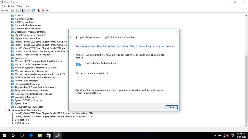 windows 10 audio update