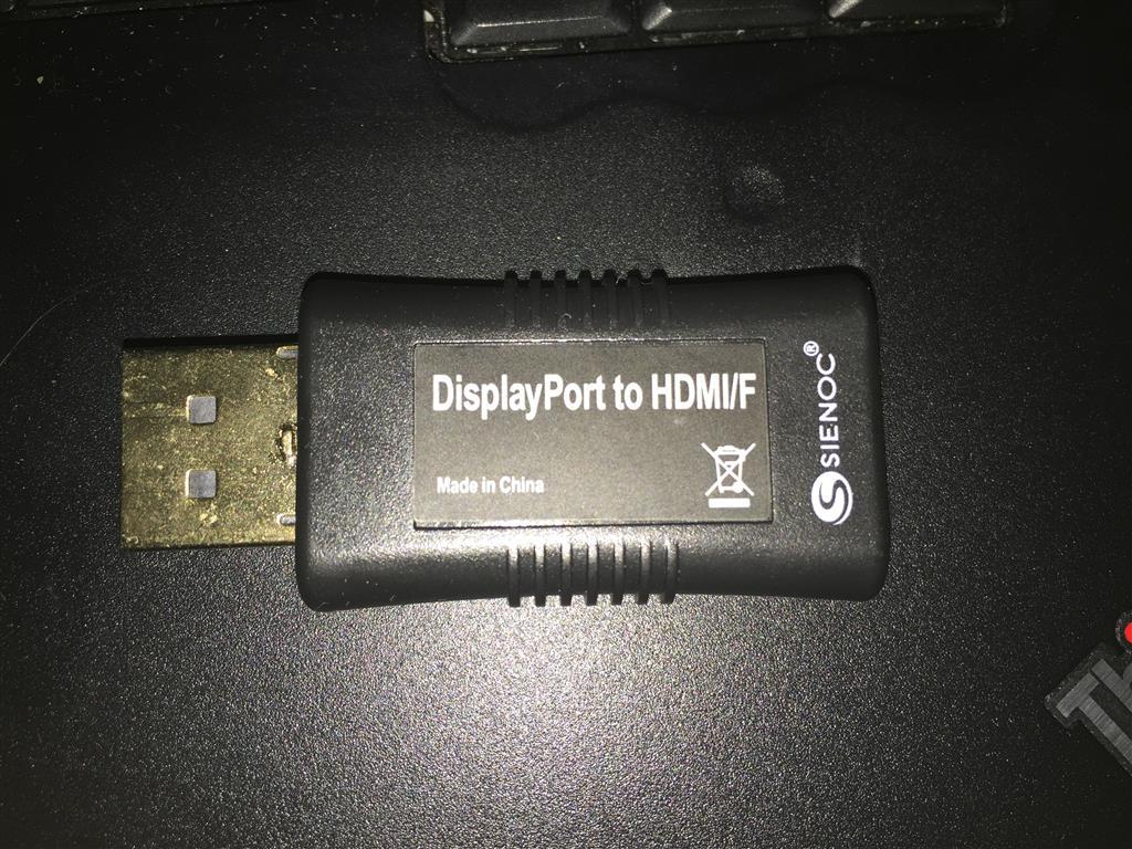 DisplayPort to HDMI issues Windows 10 - Microsoft Community