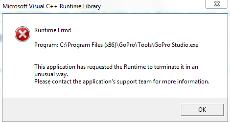 Erreur Visual C Runtime Error Microsoft Community