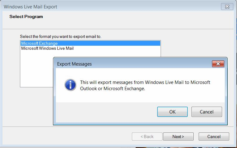 Exporting \ Saving \ Importing Windows Live Mail 2012