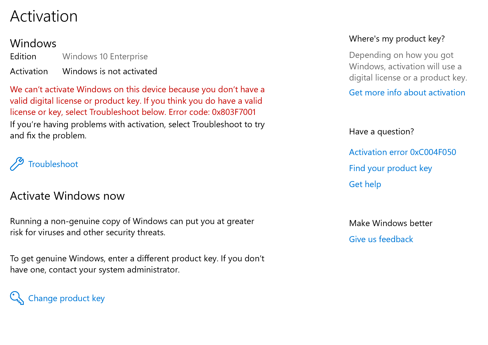 upgrade from windows 10 home to pro key