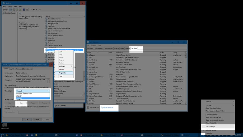 Windows 10 Disable Onscreen Keyboard - Microsoft Community