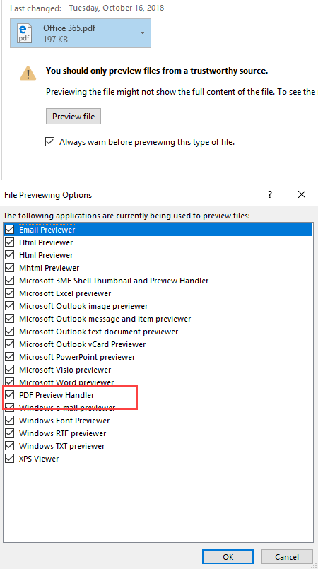 Make preview feature great again (Outlook preview handlers
