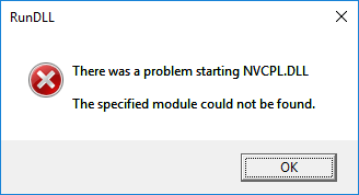 NVCPL.DLL Not Found Error at boot - Microsoft Community