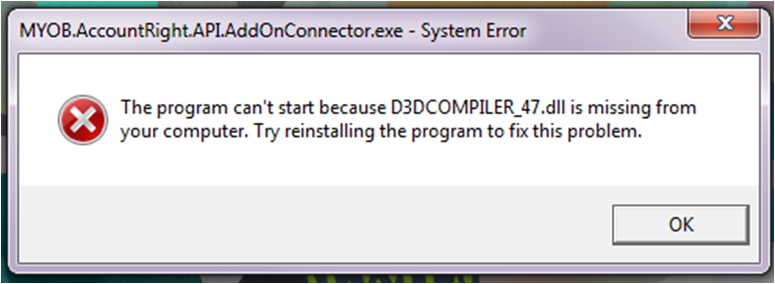 d3dcompiler_47.dll is missing windows 7 64 bit