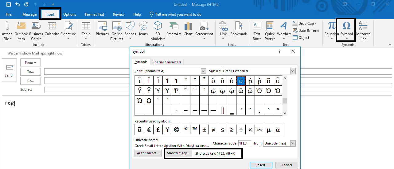 special characters - Microsoft Community