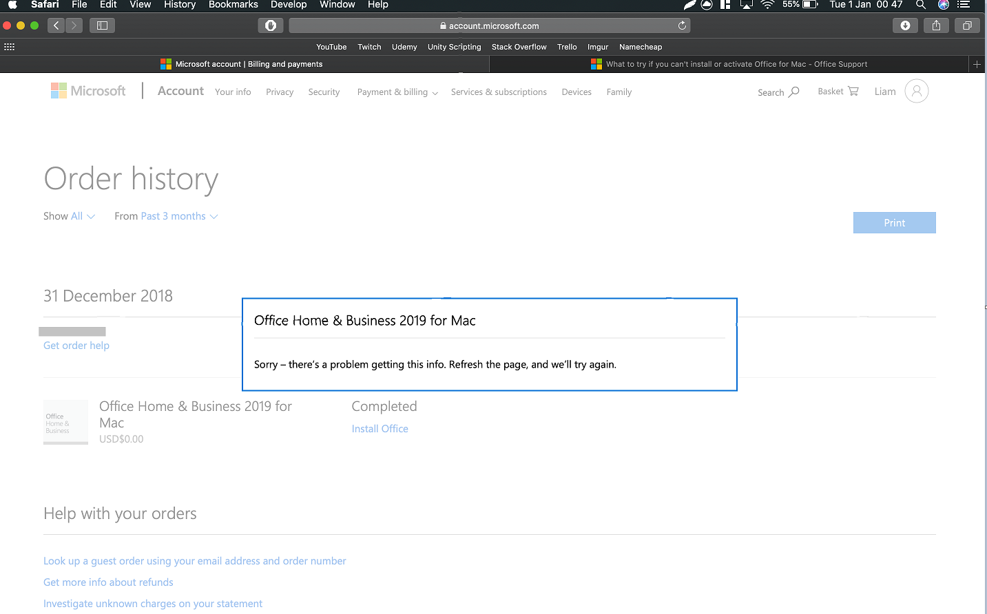 Cannot Install New office 2019 for Mac??? - Microsoft Community