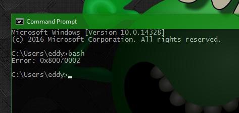 Problems reinstalling Bash on Ubuntu on Windows Error