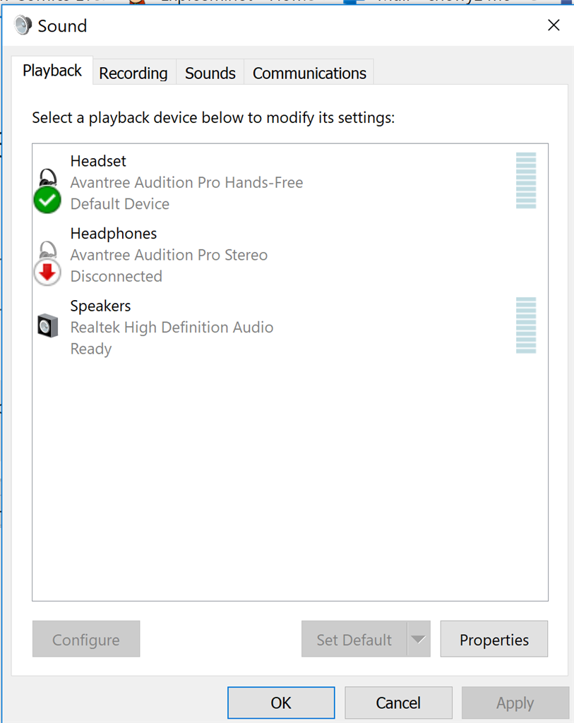 Bluetooth headset disconnects any time audio plays