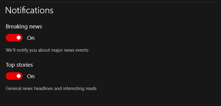 Since The Latest Win10 Update Microsoft News App Is No Longer Sending Microsoft Community