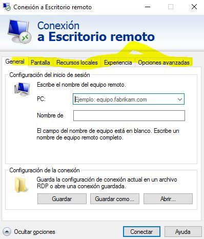 Pestana Programas En Conexion Remota Windows 10 Microsoft Community