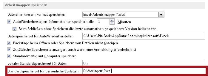 Speicherort Für Benutzerdefinierte Vorlagen Microsoft Community