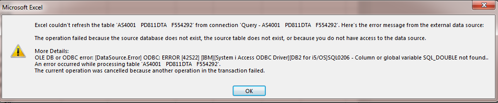 ODBC Connection not connecting in Excel 365 ProPlus - Microsoft