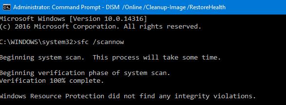 windows 8 scannow repair