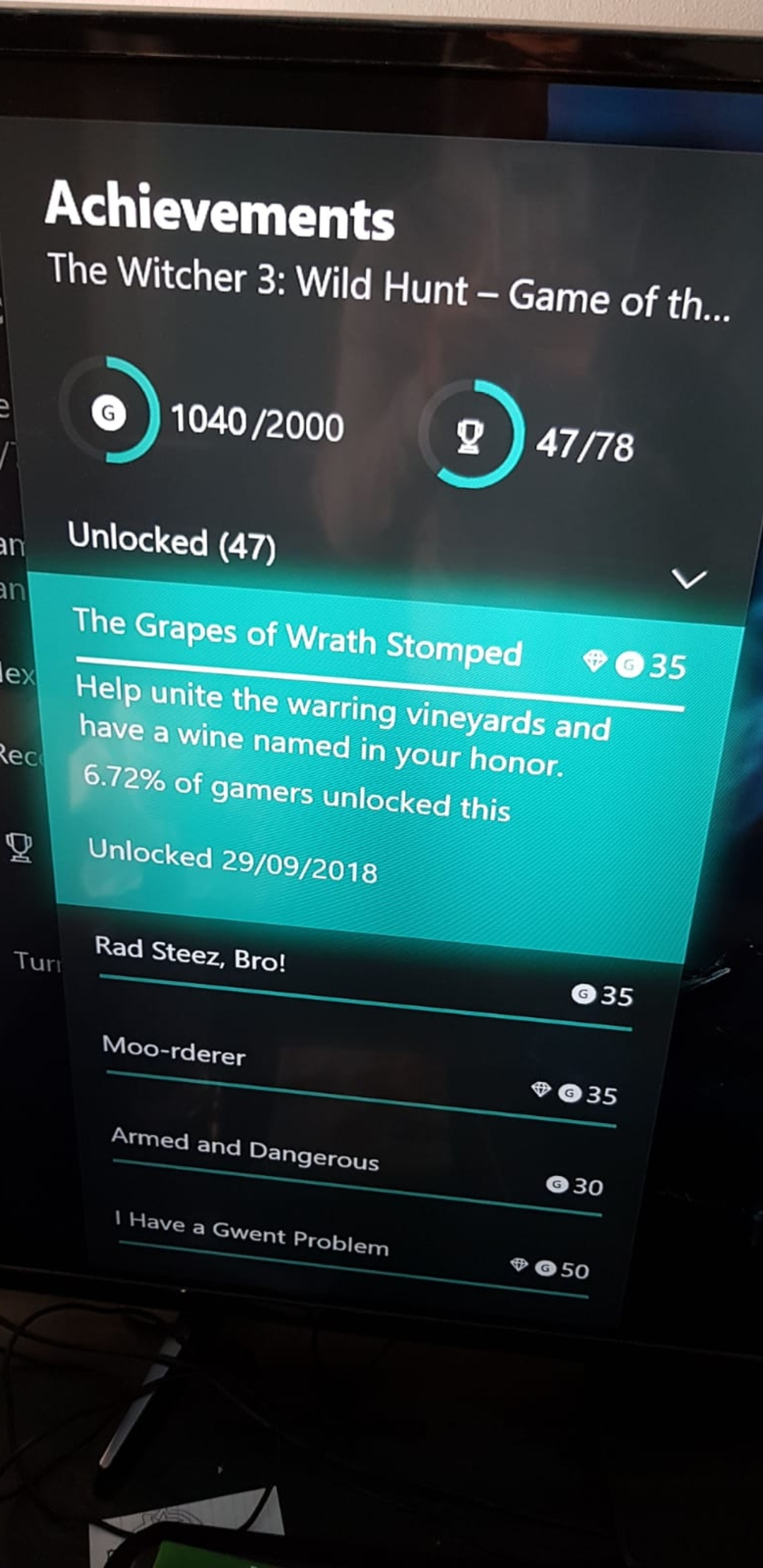Witcher 3 goty edition achievements not registering - Microsoft