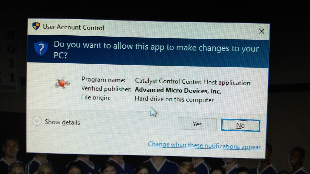 User Account Control Pop Up On Windows 10