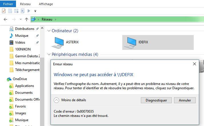 0x80070035 windows 10