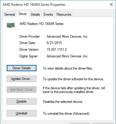 Windows 10 Upgrade Issue: Graphics Driver causing several