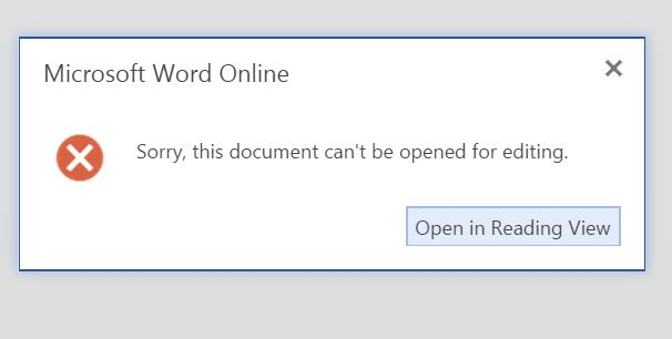 unable to modify word document