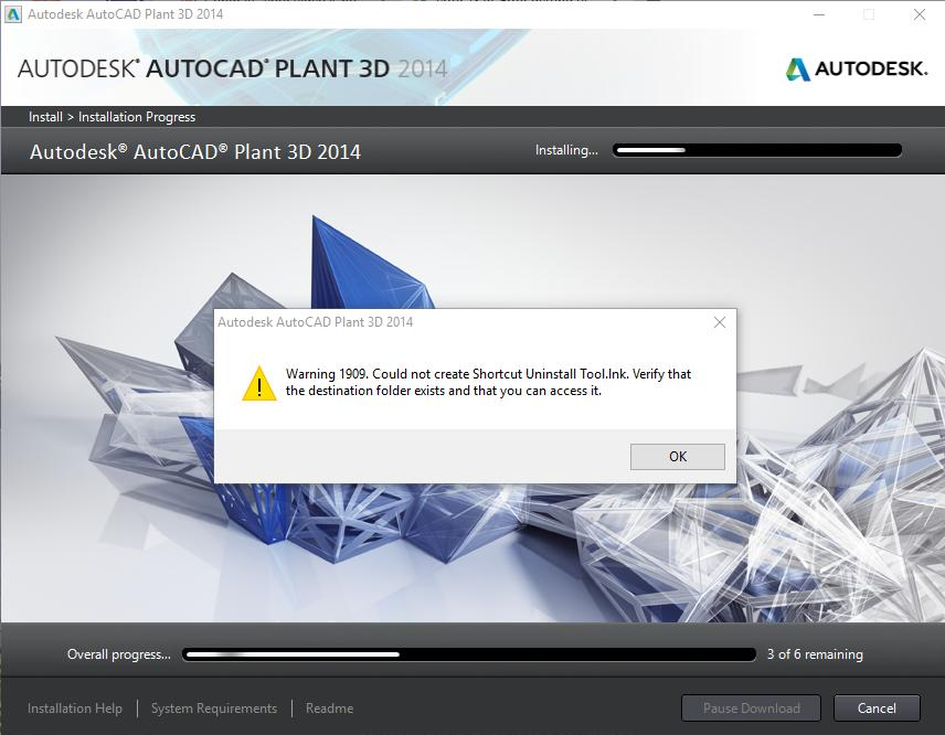 Error 2902 When trying to install AutoCad Plant 3D - Microsoft Community
