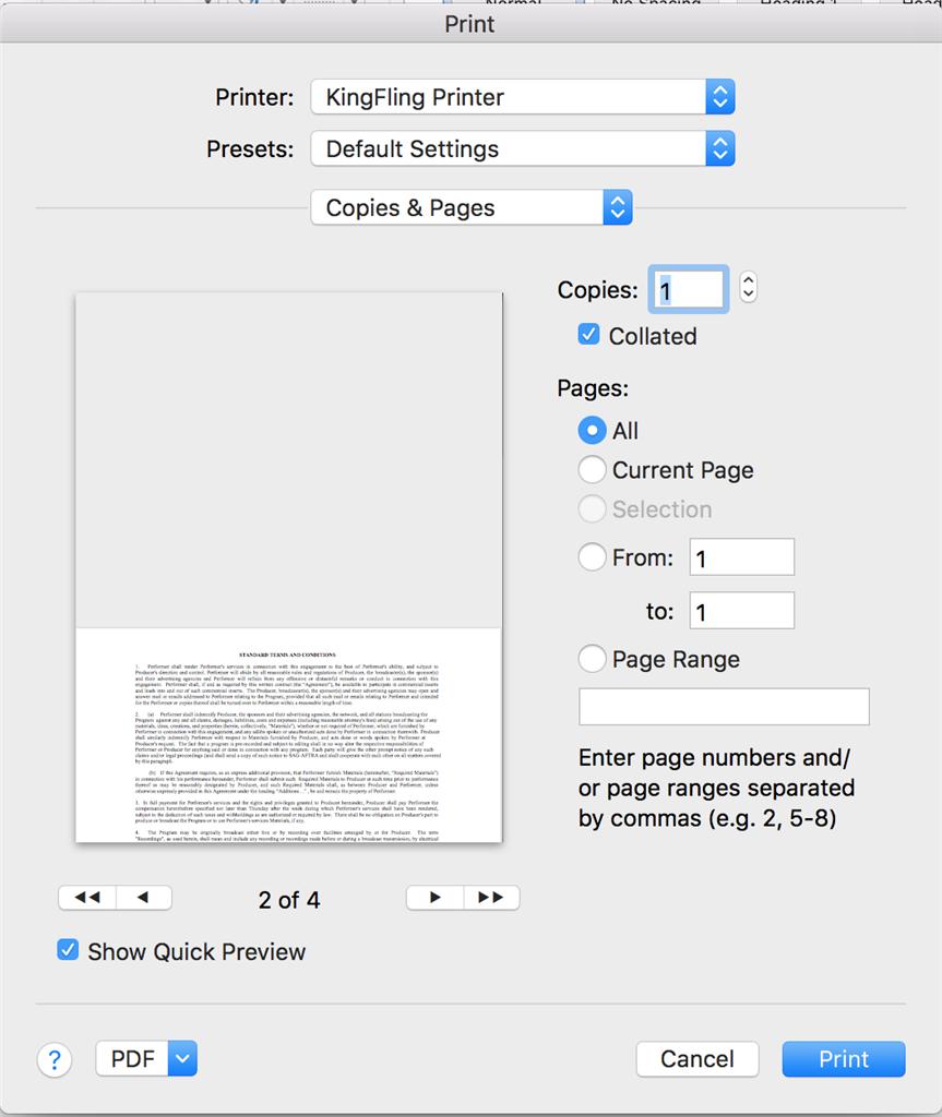 cut pdf printer