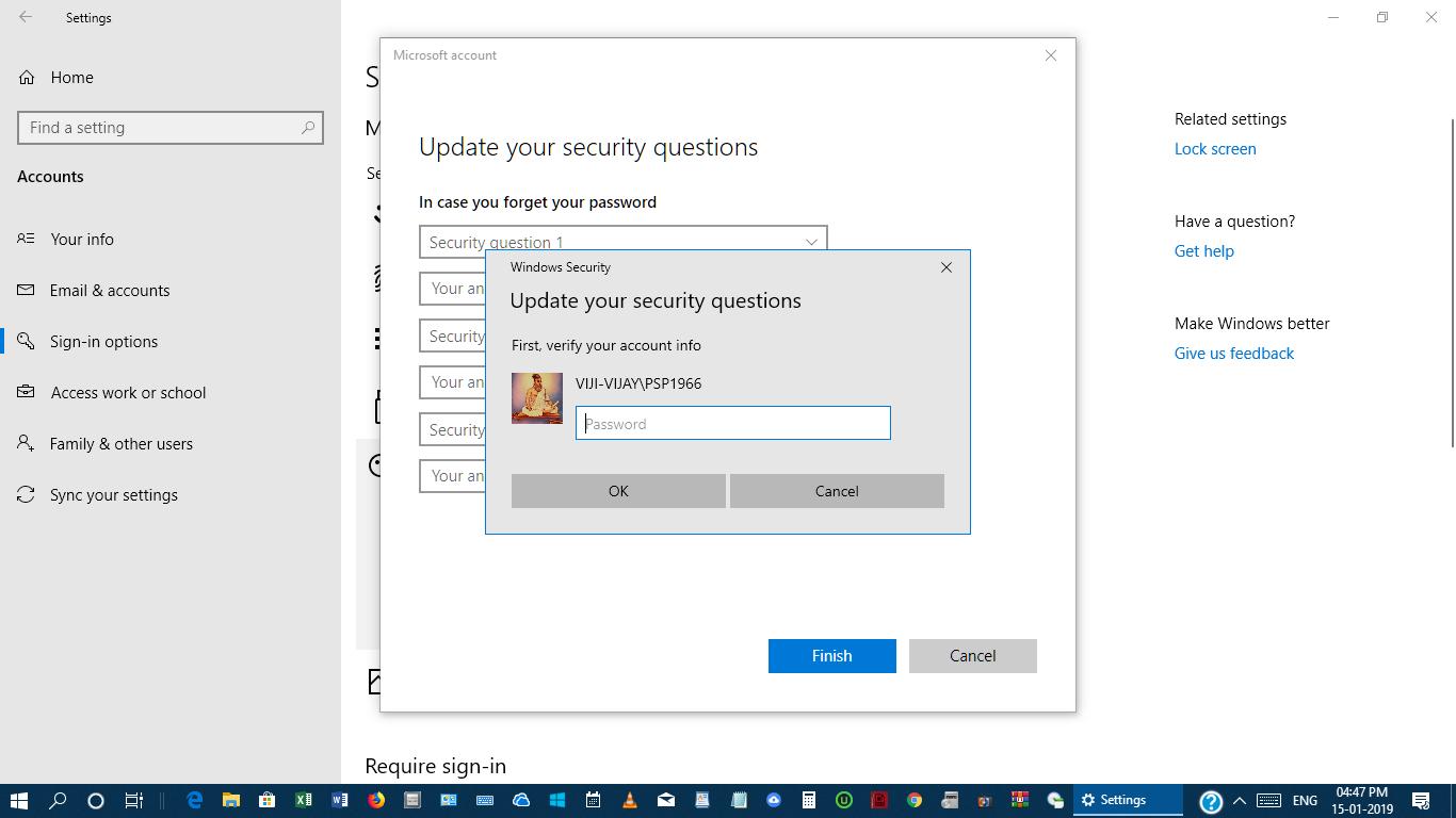 account live com password reset windows 10