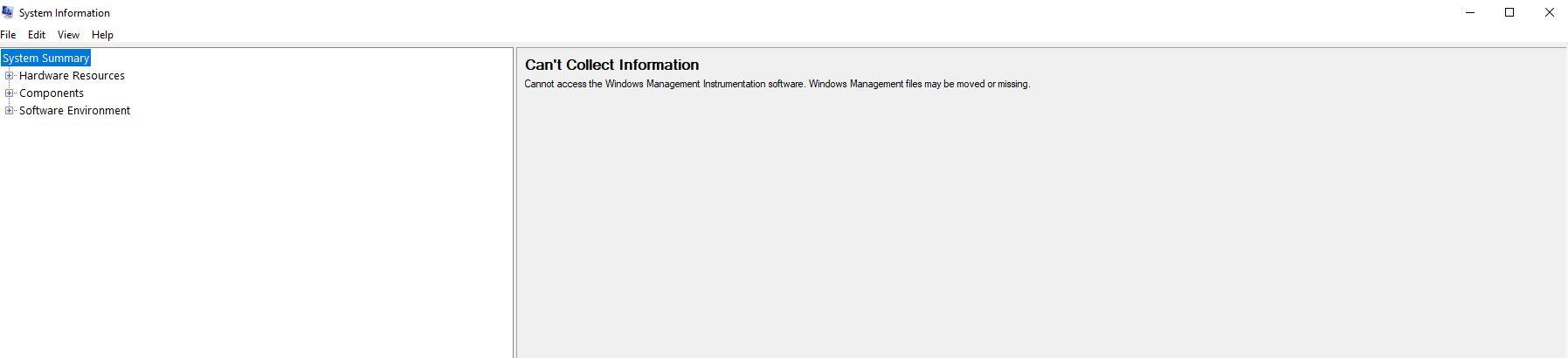System Information not populating, System Information application