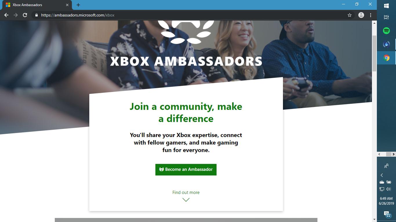 Xbox Ambassadors Program Help [IMG]