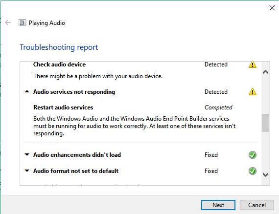 restart windows audio service windows 10