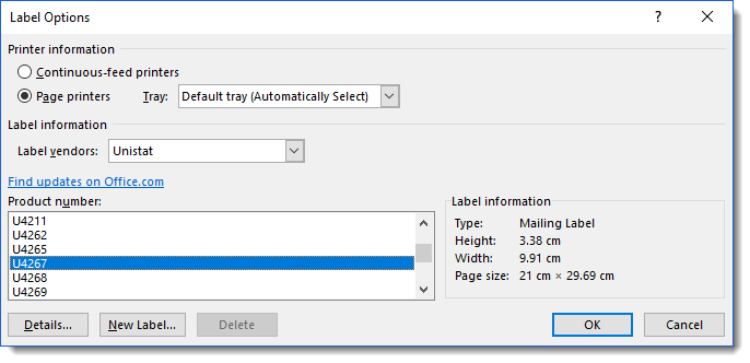 How To Format Mailing Labels Office 2016 Microsoft Community