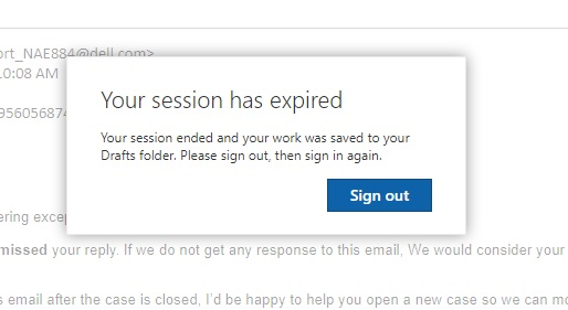 4f35aeb8 Outlook--Your session has expired - Microsoft Community
