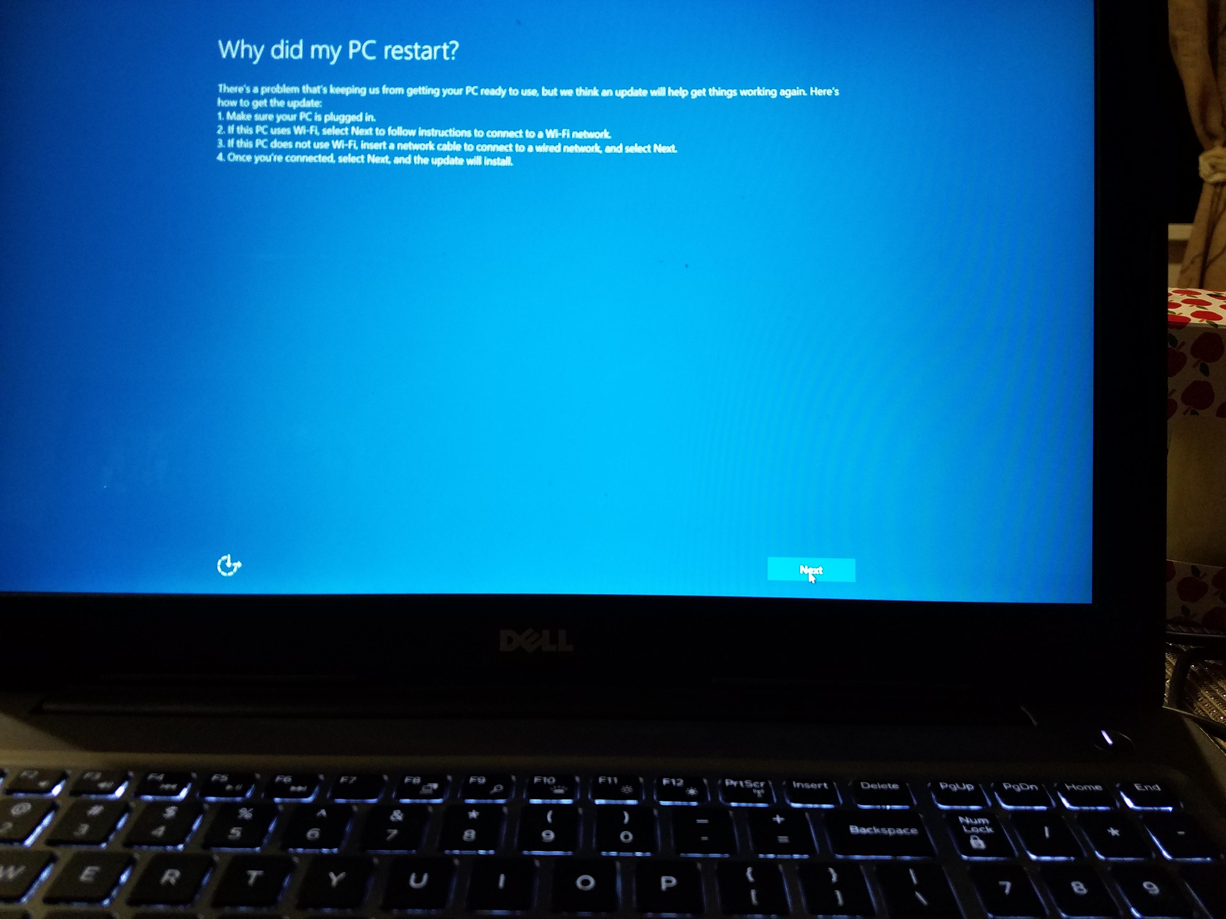 laptop reset stuck at 10