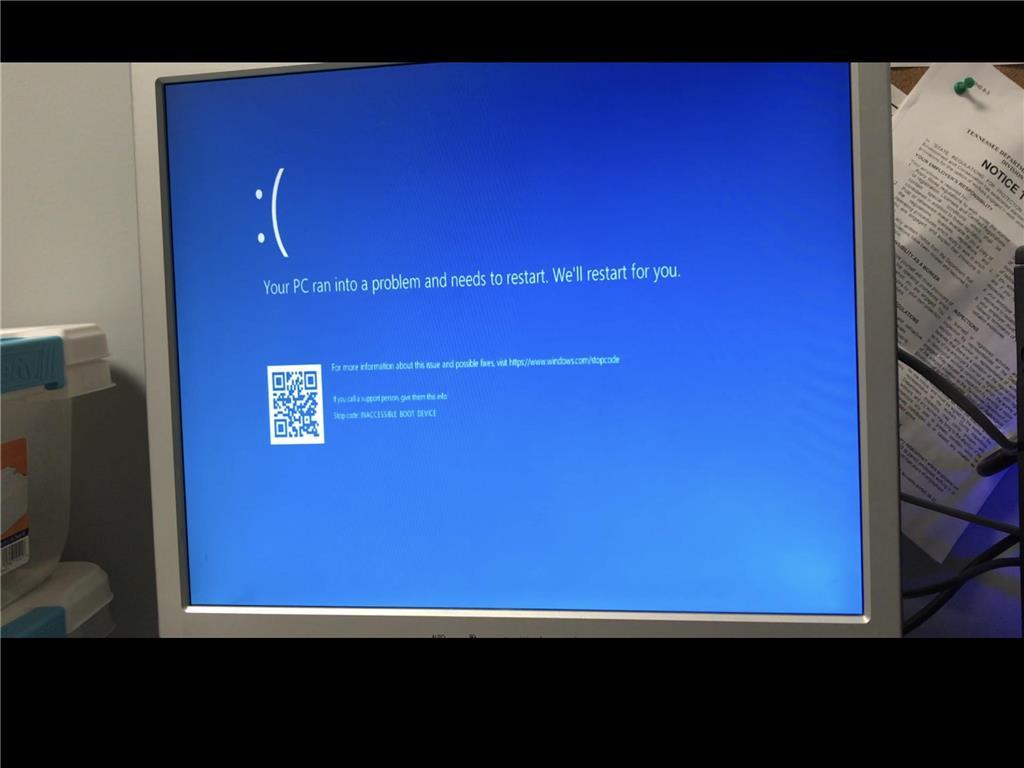 Windows Update on Dell T130 causing Reboot Loop KB4058043