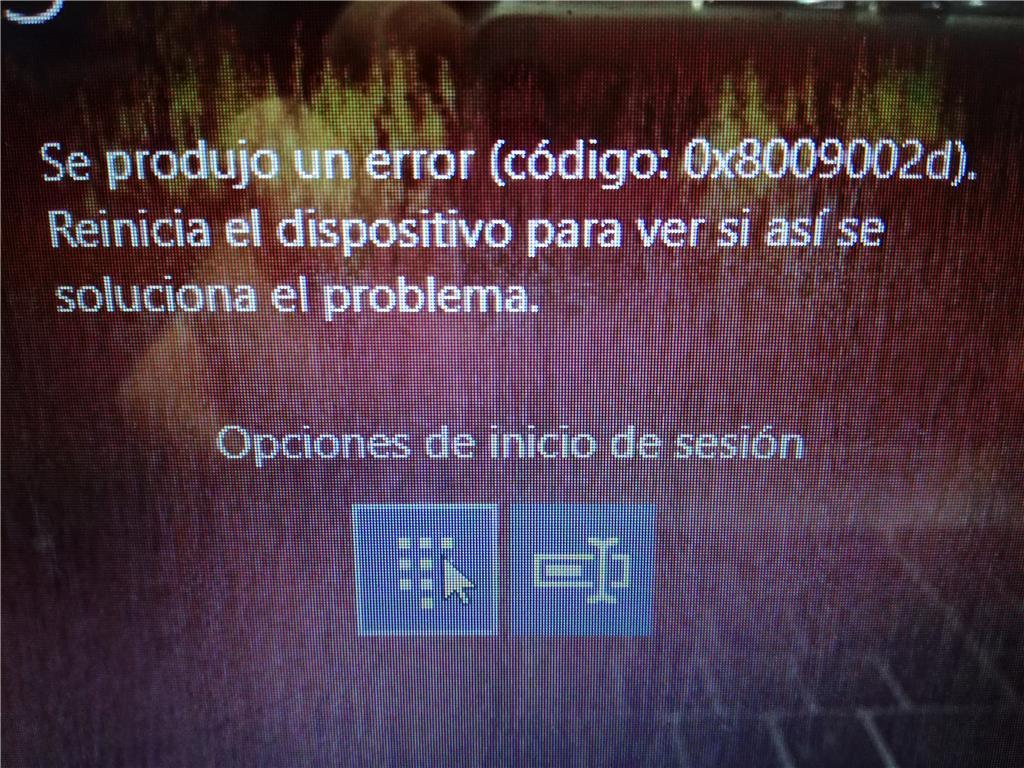 Windows 10 - Se produjo un error (código: - Microsoft Community
