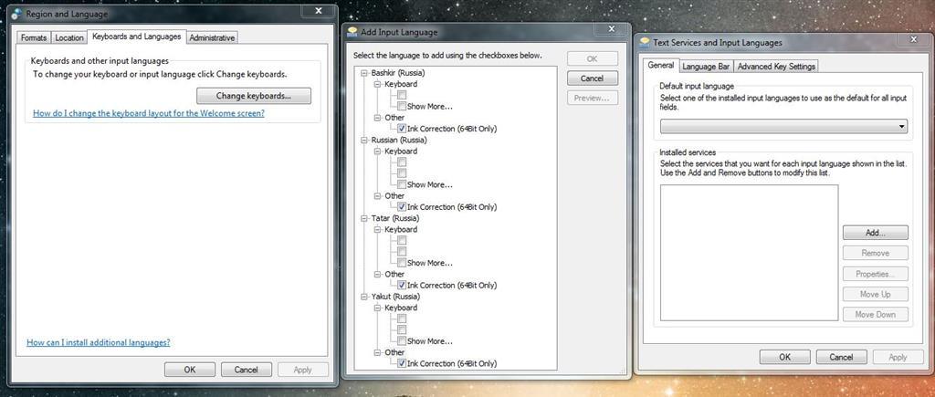 Cannot Change Keyboard Langauge Through Control Panel Microsoft
