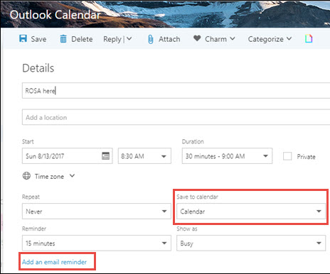 Set two Calendar Reminders--one before the event and one at