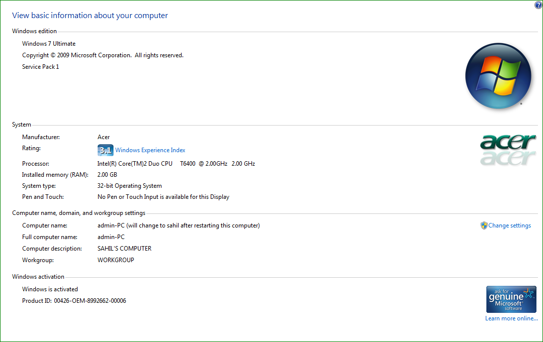 Windows 7 Ultimate 32 Bit Operating System Upgrade To Microsoft Community