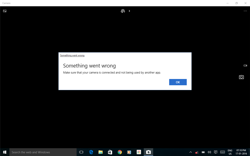 My front facing camera does not opening! - Microsoft Community