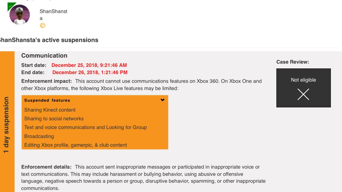 Banning on Christmas Day? - Microsoft Community