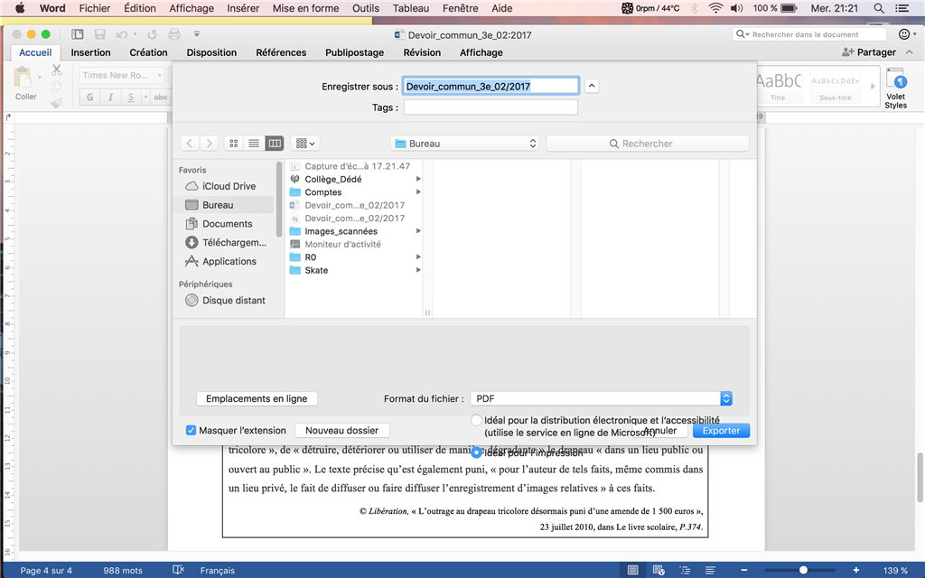document pdf en word mac